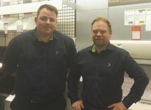 Eksperter: Halvor Olsrud og Jan Erik Fossdal hjelper deg gjerne på Elkjøp sin stand på Boligmessen i Mosjøhallen.