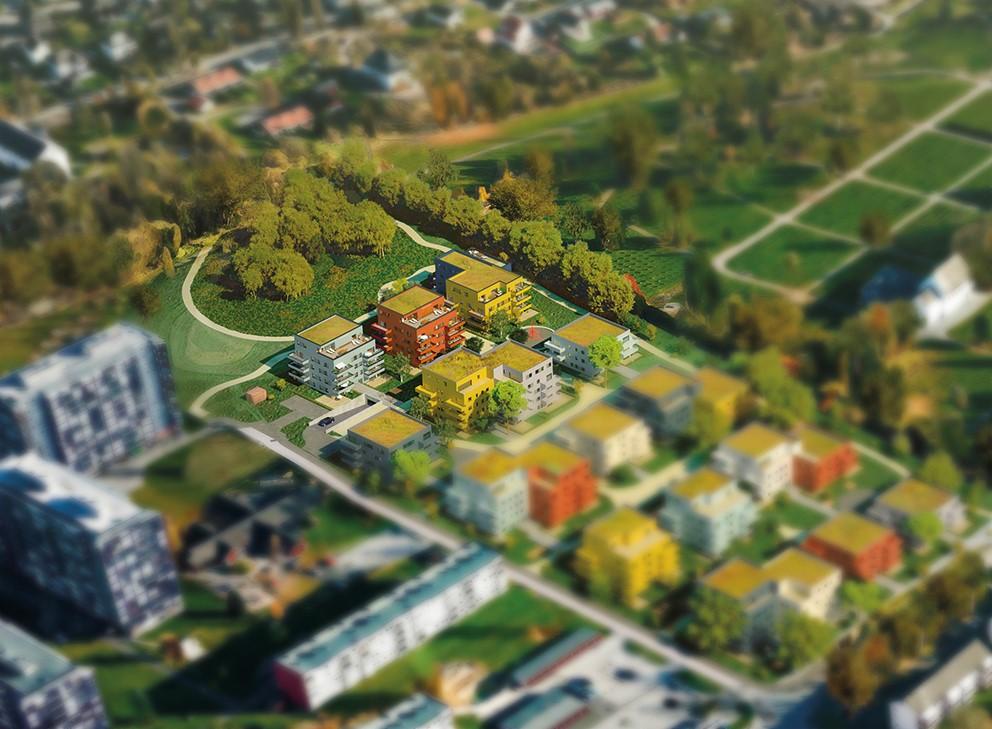 - Dette boligområdet er perfekt for de som vil bo bynært i grønne omgivelser, med gang- og sykkelavstand til alt, sier Gunn-Heidi Kittilsen i Skien Boligbyggelag.