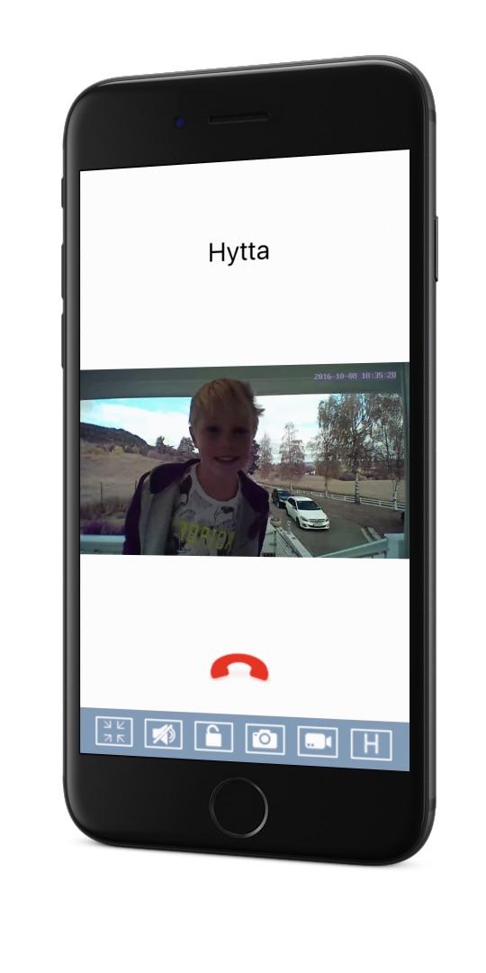 Nå kan du se hvem som ringer på via appen på telefonen.