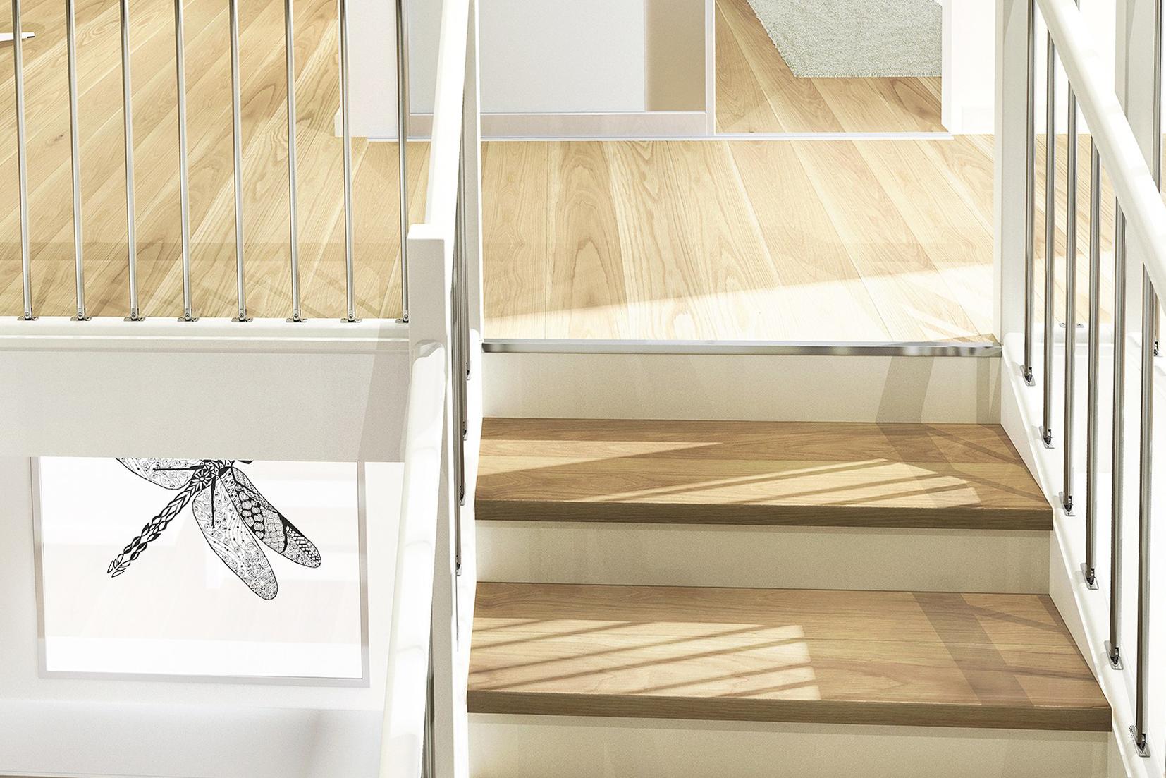 Industri- og boliggulv (IBG) er en leverandør av nisjeprodukter til gulv og vegg, for håndverker og forbruker. De leverer lister, verktøy, overflatebehandling, maskiner og annet utstyr. På messen demonstrerer de teknikker innen trapperenovering, overflatebehandling og vedlikehold av gulv, og viser frem gulvrelaterte produkter. Foto: IBG