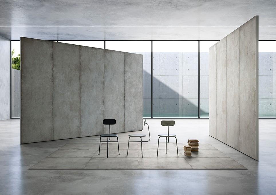 - Vi har fliser som måler 1,5 m x 3 m. Interiørarkitektene elsker dem, sier Christian Luzio.